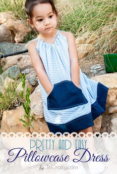 DIY Pretty and Easy Pillowcase Dress with Pattern Tutorial