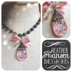 Vintage Chandelier Faith Love Hope on a Jumbo chain