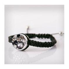 BRANSOLETKA SZNUREK Chunks/FASETKA, czarna - Bianca Cavatti #Jewelry
