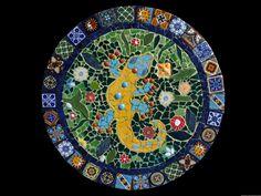 20 inch Mosaic Lazy Susan, Wall Decor, or Table Top Made with Talavera Tiles. $275.00, via Etsy.