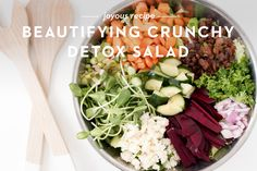 I eat a salad every single day, sometimes twice per day, once at lunch and then dinner. I LOVE crunchy food - which is probably one of the reasons I love s