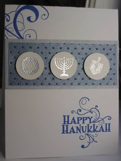 My Chanukah cards for this year! I like to make unique holiday cards but I'm so behind I just made one version. Thanks for looking!