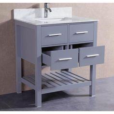 Photo Album Website Belvedere Grey inch Bathroom Vanity with Marble Top