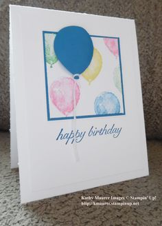 Birthday Card using Stampin' Up!'s Balloon Builders Stamp Set. For details, go…