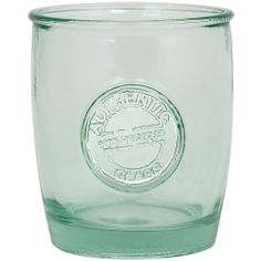 Set of 4 Authentic Recycled Clear Green Drinking Glasses   Overstock.com Shopping - Big Discounts on Beverage Serving Sets