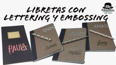Libretas básicas personalizadas con lettering y embossing
