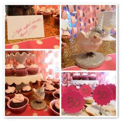 Awesome 30th birthday party- pink and gold