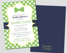 Poco hombre bebé ducha invitación pajarita Baby por T3DesignsCo