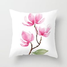 Buy Tulip Magnolia Branch Throw Pillow by susanbrand. Worldwide shipping available at Society6.com. Just one of millions of high quality products available.