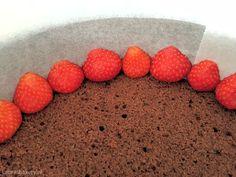chocolade ijscake met aardbeien 2a