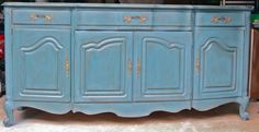 I may have to refinish a chest to look like this.  Love it!