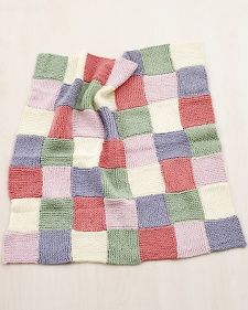 Martha Stewart Crafts Lion Brand® Yarn Extra Soft Wool Blend Loom-Knit Patchwork Garter Baby Throw. I want a big one for me.