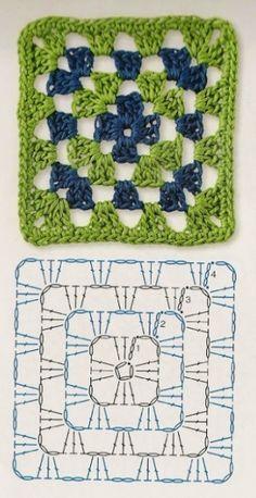 Easy granny square crochet