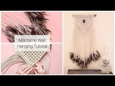 DIY Macrame Tutorial: Beginner Wall Hanging Diamond with Crafty Ginger - YouTube