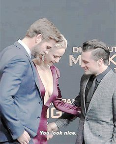 Josh and Jennifer actually saying nice things to each other: | Jennifer Lawrence, Josh Hutcherson, And Liam Hemsworth Prove True Friendship Love Exists