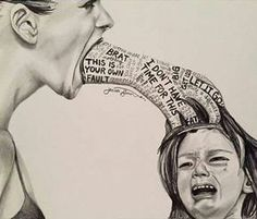 Verbal, emotional and psychological child abuse art - unknown artist Parenting Quotes, Kids And Parenting, Parenting Ideas, Gentle Parenting, Art Therapy, Decir No, It Hurts, Life Quotes, Son Quotes