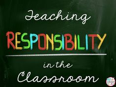 Diary of a Not So Wimpy Teacher: Teaching Responsibility in the Classroom