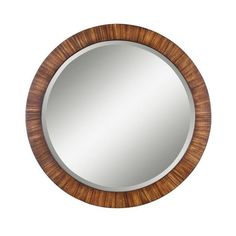 Uttermost 13554 B Jules Beveled Round Mirror With Antiqued Finish ($284) ❤ liked on Polyvore featuring home, home decor, mirrors, zebrano veneer, beveled mirror, uttermost mirrors and uttermost home decor