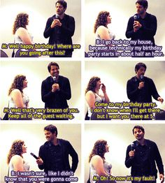 I'd ditch my guests too....srry guys, but it's Misha freaking Collins! ;p