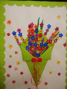 A nice idea to decorate cards or just to make Diy And Crafts, Crafts For Kids, Arts And Crafts, Paper Crafts, Diy Paper, Spring Art, Spring Crafts, Diy Y Manualidades, Board Decoration