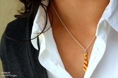 DIY Shrinky Dink jewelry - Harry Potter tie i would so wear this!! gotta figure out how to make one...hmmm maybe beaded peyote stitch??