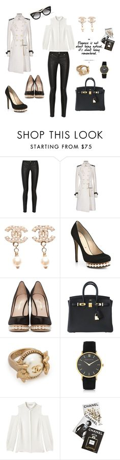 """elegance is an attitude"" by maryanacoolstyles ❤ liked on Polyvore featuring Acne Studios, Burberry, Chanel, Nicholas Kirkwood, Hermès, Larsson & Jennings, Rebecca Minkoff, Assouline Publishing and STELLA McCARTNEY"