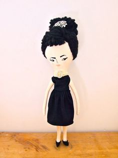 Miss Mouse rag doll hand crafted heirloom quality Audrey Breakfast at Tiffany's