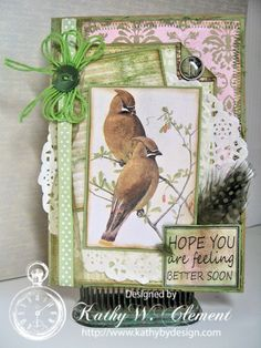 Really Reasonable Ribbon Blog: Birds of a Feather and Ribbon Go Together