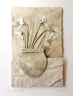 Guinea- Fowl feather tile