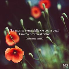 """(Italian) """"The music and one of the ways in which the soul returns to heaven"""""""