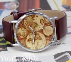 The Most Cost-Effective World Map Watch,Mens Watch from yourlifestyle by DaWanda.com