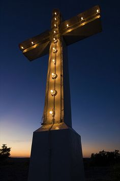 would love to drive past this cross at night.