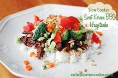 Slow Cooker Sweet Korean BBQ Haystacks