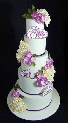 Bikes and Blossoms by Cakeage Cake Craft (3/3/2013)  View details here: http://cakesdecor.com/cakes/50979