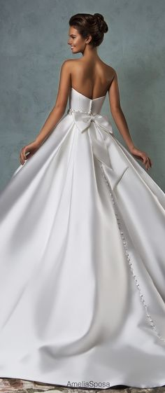 Custom Made Elegant Satin Strapless Wedding Dress,Sleeveless Bead Bridal Dress,Sexy Wedding Gown, Shop plus-sized prom dresses for curvy figures and plus-size party dresses. Ball gowns for prom in plus sizes and short plus-sized prom dresses for 2016 Wedding Dresses, Bridal Dresses, Wedding Gowns, Prom Dresses, Dressy Dresses, Evening Dresses, Bridesmaid Dresses, Vestidos Sexy, Beautiful Gowns