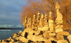 Stone balance composition in the sunset in Hungary by tamas kanya
