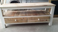 Rustic bench⁄hall table⁄TV unit made to measure from pallet wood ...