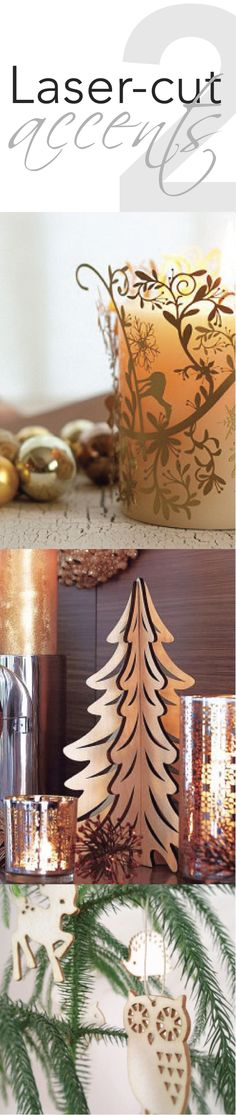 Laser-Cut Accents, Holiday Design 2013, Christmas Trends, Holiday Decor wp.me/p2MzQ7-9v
