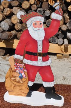 This was a wooden Santa painted in November 2011