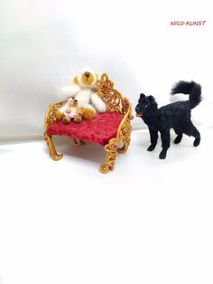 OOAK Dollhouse Miniature Dog 1:12 scal, black homeless dog,   Handmade Realistic  | eBay