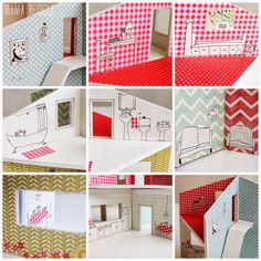 Mamà recicla Diy And Crafts, Crafts For Kids, Pop Up, Miniture Things, Paper Toys, Fabric Dolls, New Toys, Play Houses, Doll Toys