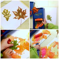 Ruska siirtyy paperille Crafts For Kids To Make, Kids Crafts, How To Make, Plastic Cutting Board, Cards, Ideas, Autumn, Creative, Maps