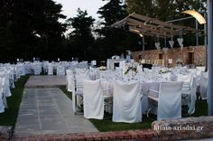 Άποψη από τον εξωτερικό χώρο Φαιστός σε καλοκαιρινή δεξίωση γάμου