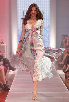 Miranda Kerr wears Zimmermann Clique twist dress at the David Jones season launch in Sydney.