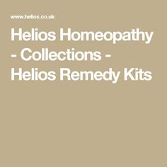 Helios Homeopathy - Collections - Helios Remedy Kits