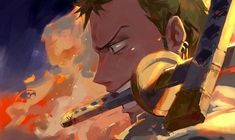 Roronoa Zoro, One Piece One Piece Anime, Zoro One Piece, One Piece Fanart, Anime One, Anime Guys, Roronoa Zoro, Manga Anime, Tsurezure Children, One Piece Crew