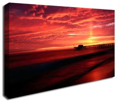 Simply Canvas have a variety of seascape canvas prints. Original wall art from Wall Prints, Canvas Art Prints, Canvas Wall Art, Ocean, Sky, Sunset, Outdoor, Inspiration, Products