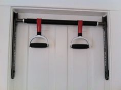"""Perfect Pullup"" bar and pull up handles. Fits to any door frame with 4 screws. $30 SOLD"
