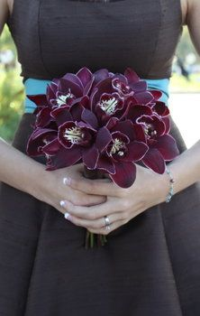 Wedding, Flowers, Red, Brown, Bridesmaids, Bridesmaid, Art with nature floral design, Cymbidiums