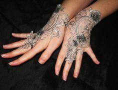 Note to self! Buy lace when next in Asia ... come home and make these!
